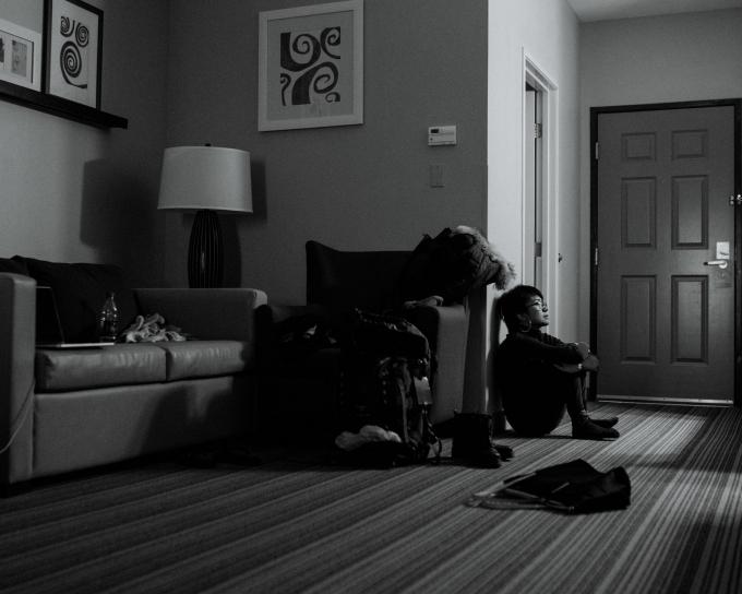 Bức ảnh này, được chụp vào tháng 2, là lần đầu tiên kể từ sau vụ tấn công, tôi đã đi một mình đến một nơi mà tôi không biết ai.