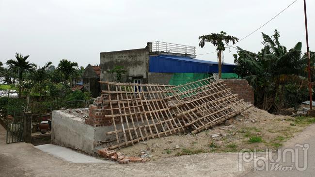 Công trình vi phạm của hộ ông Bùi Huy Lễ sau khi đã phá dỡ.