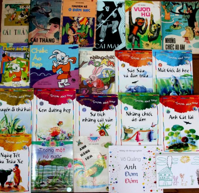 Một số tựa sách của Võ Quảng