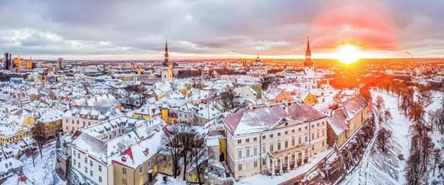 Khung cảnh cổ tích của Tallinn, Estonia.