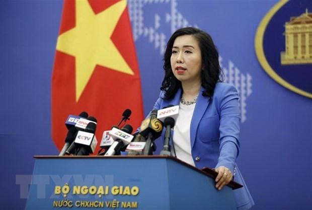 Người phát ngôn Bộ Ngoại giao Lê Thị Thu Hằng. (Ảnh: Dương Giang/TTXVN)