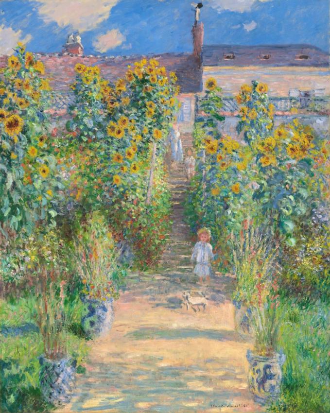 """Tác phẩm """"Vườn Monet ở Vetheuil"""" họa sĩ Monet sẽ được giới thiệu dưới dạng phiên bản số tại VCCA"""