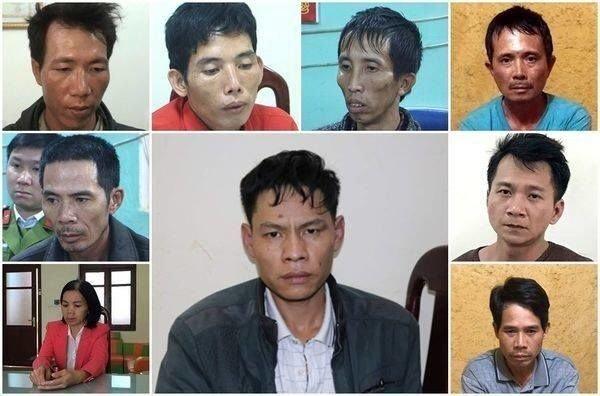 Các đối tượng liên quan vụ án sát hại nữ sinh tại Điện Biên