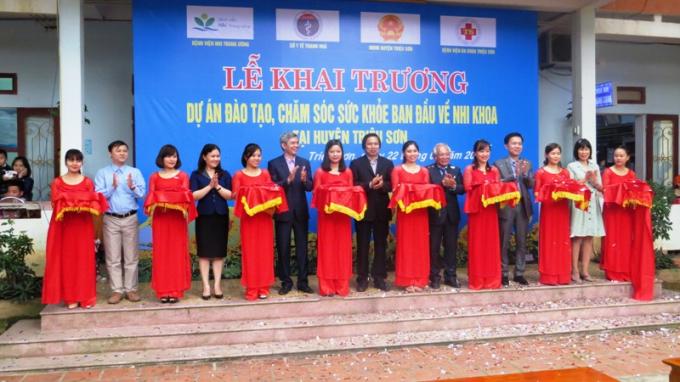 Bệnh viện Đa khoa huyện Triệu Sơnlà cơ sở thứ 3 trong Dự án chăm sóc sức khỏe ban đầu Nhi Khoa của Bệnh viện Nhi Trung Ương