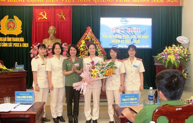 BCH Hội phụ nữ Phòng Cảnh Sát PCCC và CNCH ra mắt Đại hội (Ảnh Công an Thanh Hóa)