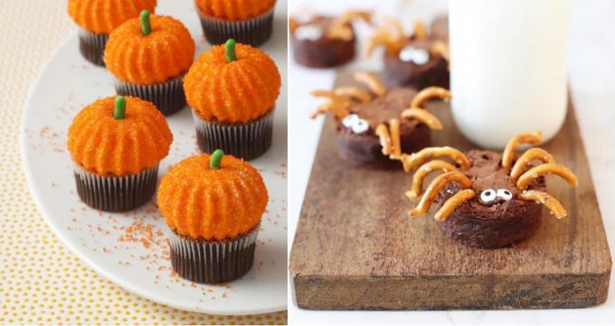 Món bánh cupcake rất dễ thực hiện và dễ trang trí các biểu tượng halloween.