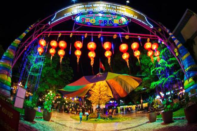 Khu vui chơi Thỏ Trắng trong công viên Lê Thị Riêng là địa điểm được các bé yêu thích.