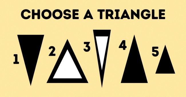 Chọn cho mình một hình tam giác nào bạn ấn tượng nhất.