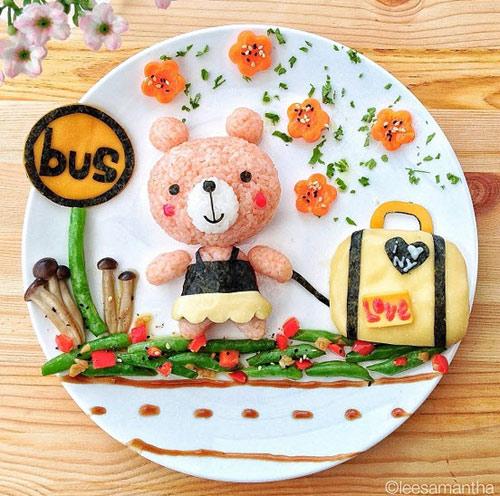 Món ăn được trang trí đẹp mắt kích thích sự hào hứng với đồ ăn của bé!