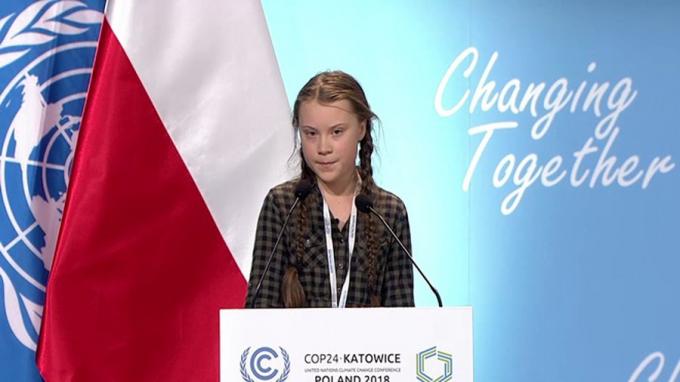 Bài phát biểu gây chấn động COP24 của Greta Thunberg.