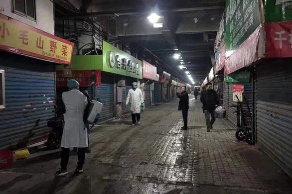 Chợ hải sản tại Vũ Hán, Trung Quốc, nơi có nhiều người mắc viêm phổi nặng thời gian vừa qua.