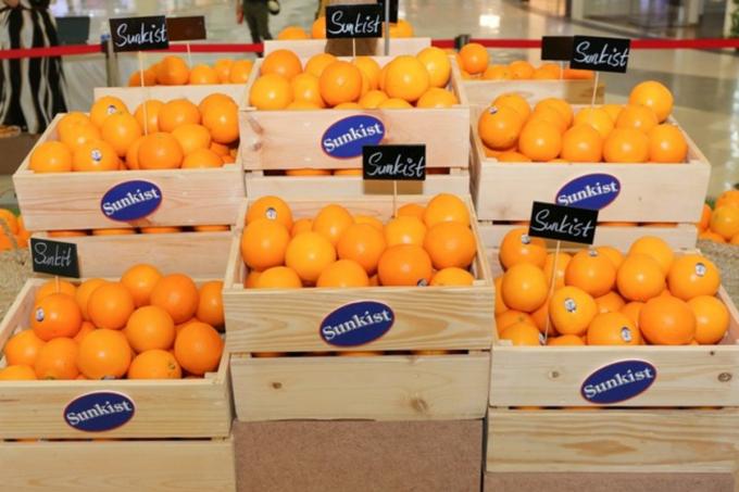 Ngày 11-1, Sunkist Grower một đơn vị xuất khẩu cam quýt hàng đầu của Mỹ chính thức đưa cam Navel trồng tại Califonia gia nhập thị trường Việt Nam.