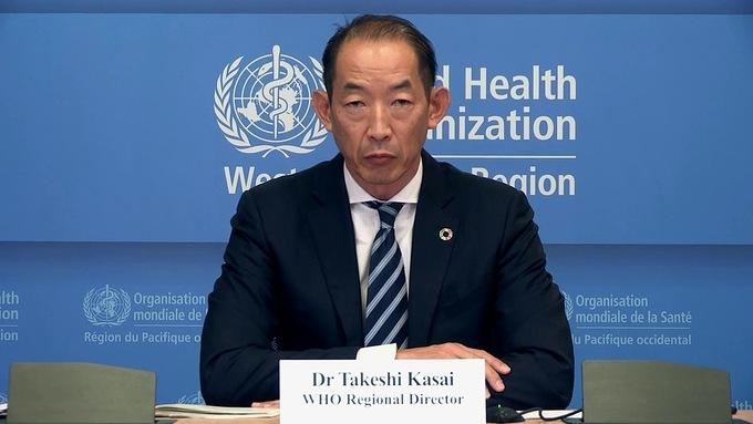 Ông Takeshi Kasai, giám đốc WHO khu vực Tây Thái Bình Dương đưa ra khuyến cáo cẩn trọng khi dỡ phong tỏa. Ảnh:WHO