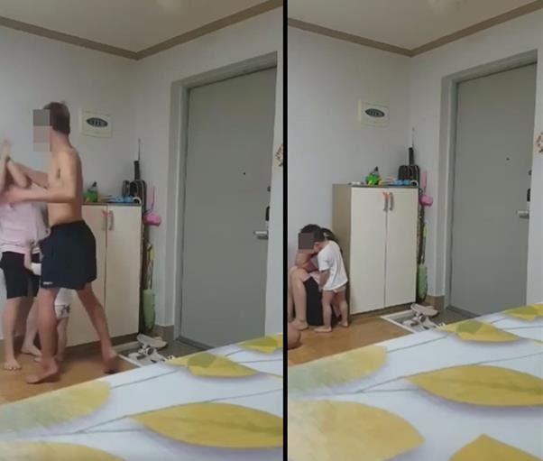 Nghi phạm vụ bạo hành tại Yeongam say xỉn và đánh đập vợ mình trước mặt đứa con trai 2 tuổi. Ảnh:Korea Times.
