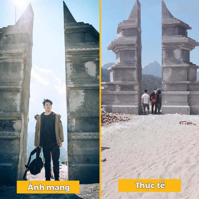 Cổng trời mới được xây dựng copy hoàn toàn thiết kế đền Cổng Trời ở Bali (Indonesia) (Ảnh; Dulichvietnam)
