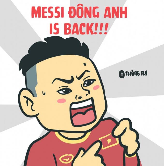 Sự trở lại của Messi Đông Anh (Nguồn: Thangfly Comics)