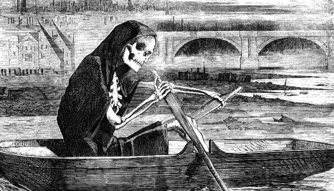Tranh minh hoạ dịch tả hoành hành London TK19 do nước sông Thames nhiễm bẩn