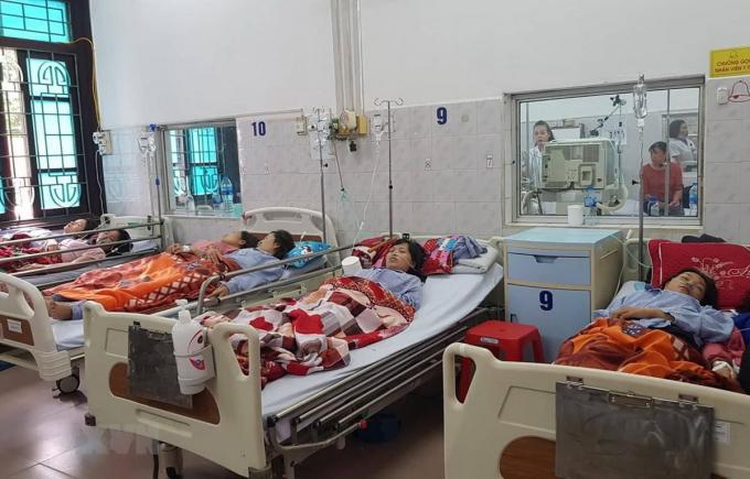 Các nạn nhân được điều trị tại Bệnh viện đa khoa tỉnh Nam Định