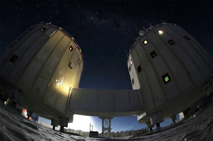 Dải Ngân Hà phía trên trạm Concordia/ Ảnh: Albertsen