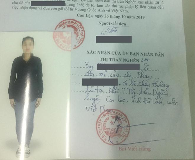 Gia đình cô đã trình báo công an huyện Can Lộc (Hà Tĩnh)