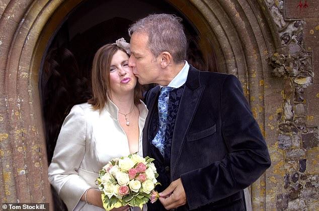 Nicola Horlick trong đám cưới lần 2