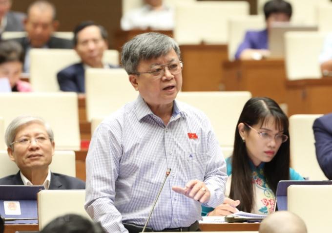 Đại biểu Quốc hội Thành phố Hồ Chí Minh Trương Trọng Nghĩa phát biểu. (Ảnh: Văn Điệp/TTXVN)