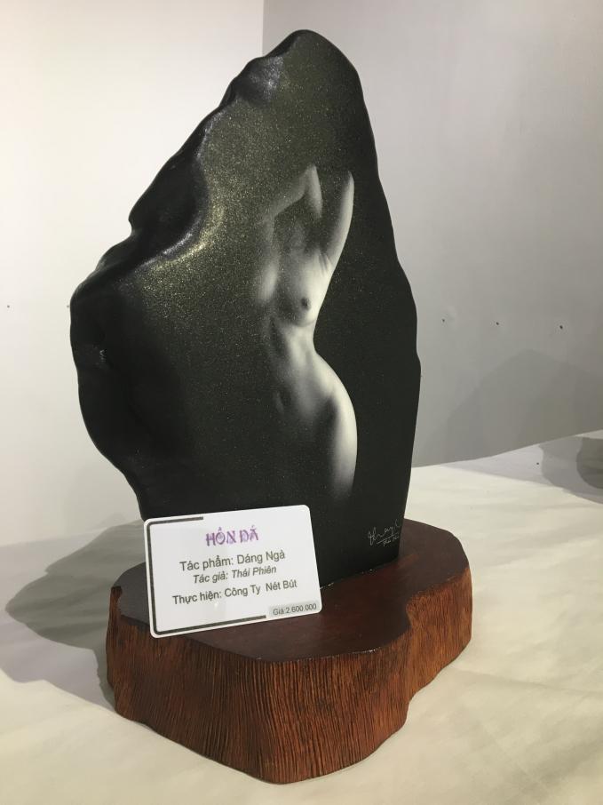 Một tác phẩm trưng bày trong triểm lãm