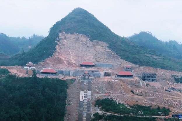 Khu Du lịch Lũng Cú đang xây dựng