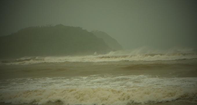 Quảng Ngãi trong cơn bão số 5 (Ảnh: Zing.vn)