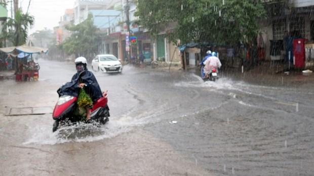 Mưa lớn gây ngập ở Phú Yên (ảnh: Vietnam+)