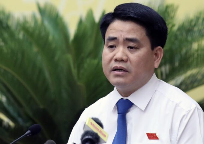 Chủ tịch UBND TP Hà Nội Nguyễn Đức Chung/ Ảnh: VnExpress