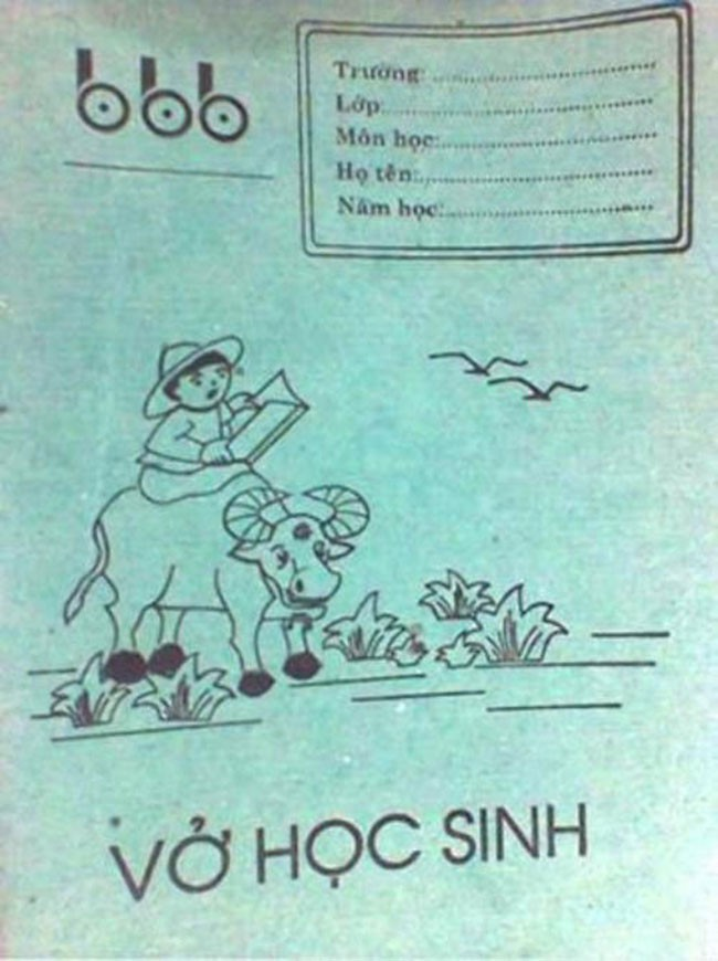 Bìa vở giấy Bãi Bằng nổi tiếng một thời