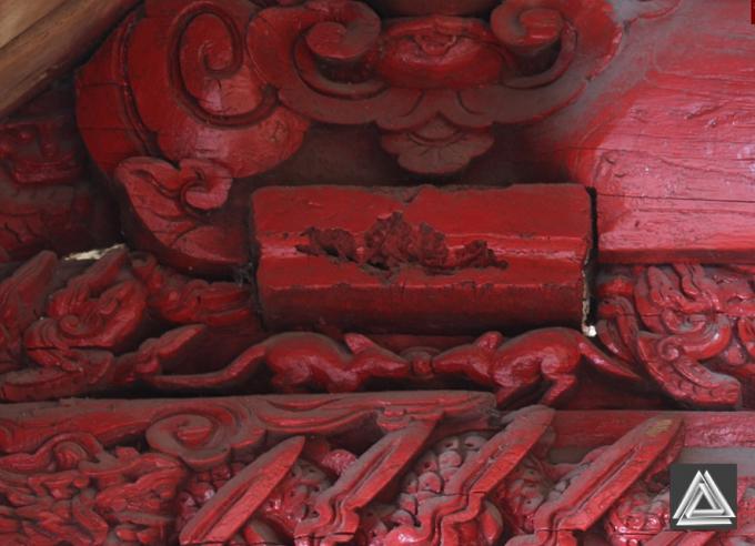 Chạm khắc phong cách nghệ thuật thế kỷ 17 ở đình làng Ninh Giang (Ninh Hiệp, Gia Lâm, Hà Nội)/ Ảnh Hiếu Trần