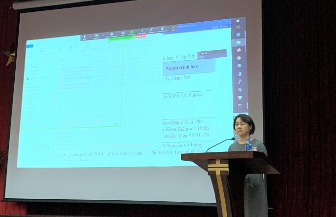 Bà Satoko Out phát biểu trong cuộc gặp