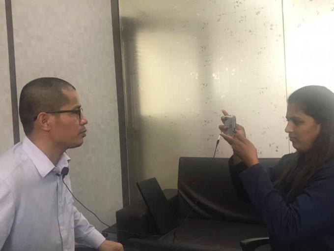 Nguyễn Quang Thạch trả lời phỏng vấn báoPudhari