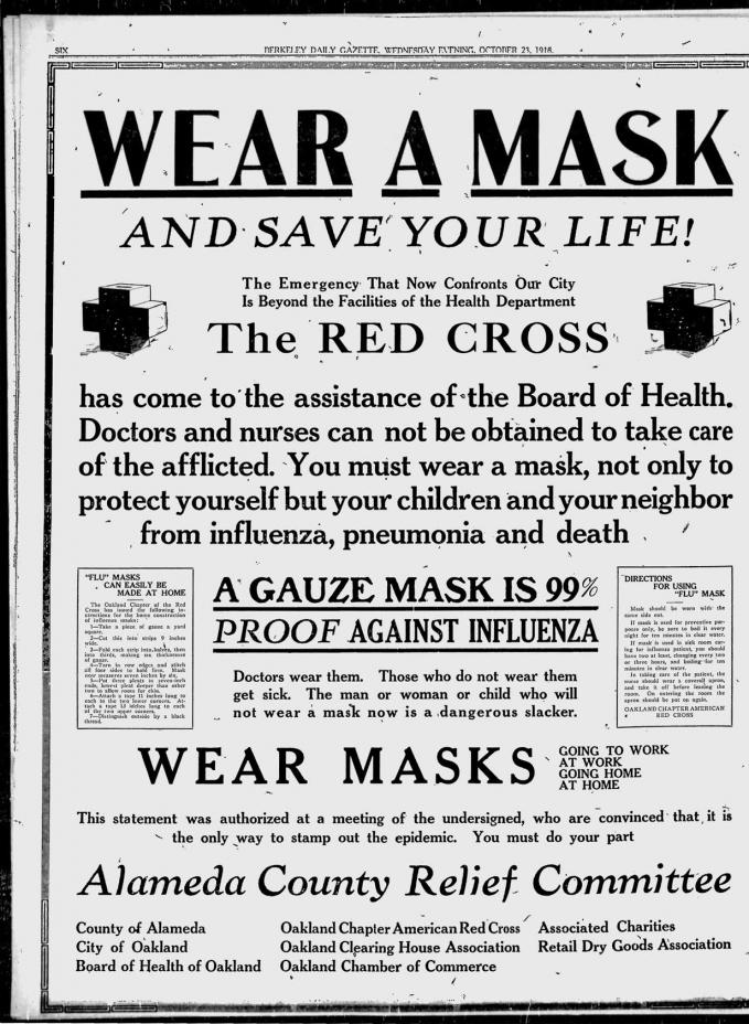 Bài báo động viên việc đeo khẩu trang của Hội Chữ thập đỏ (Ảnh: Time).