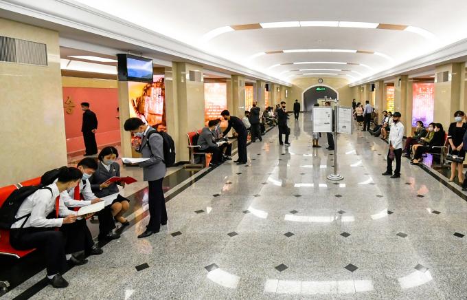 Ga tàu điện ngầm tại Bình Nhưỡng
