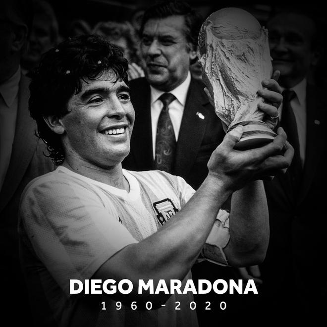 Cựu danh thủ Maradona qua đời ở tuổi 60, Argentina Quốc tang 3 ngày