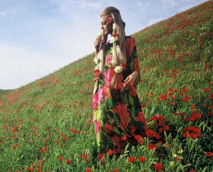 Một bức ảnh thời trang chụp ở gần Kunduz- thành phố phía Bắc Afghanistan năm1968