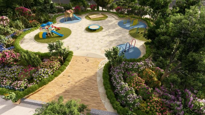 Không gian xanh tại Aqua City sẽ là nơi lý tưởng cho trẻ vui chơi, khám phá thiên nhiên.