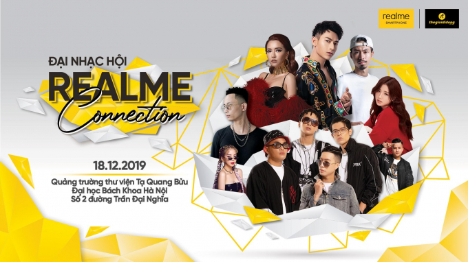Đại tiệc Công nghệ - Âm nhạc Realme Connection dành riêng cho những bạn sinh viên tại Hà Nội.