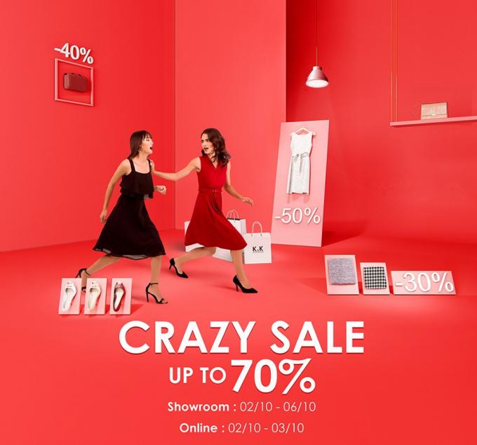 K&K Fashion giảm giá sản phẩm đến 70% nhân dịp 20/10