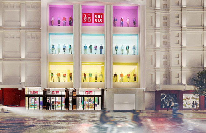 Hình ảnh cửa hàng Uniqlo Đồng Khởi được giới thiệu trên website.