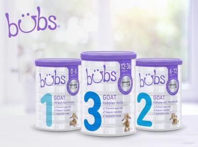 Sữa Bubs Australia chính thức được phân phối tại Việt Nam đầu tháng 12