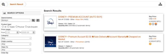 """Hàng nghìn tài khoản Disney + bị rao bán trên """"chợ đen"""""""