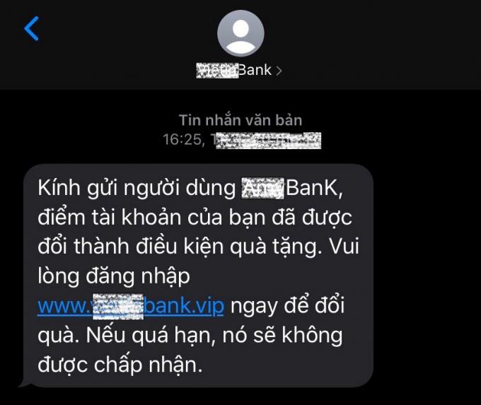 Tin nhắn giả mạo để lừa đảo người dân cả tin.