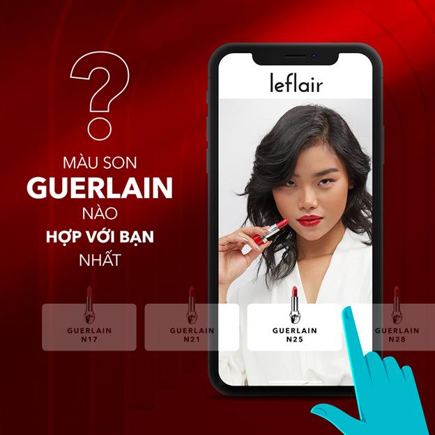 Leflair cho phép khách hàng thử sản phẩm ngay trên điện thoại