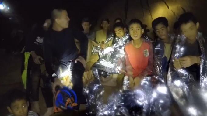 Đội bóng Thái Lan từng bị mắc kẹt trong hang (ảnh: Internet)