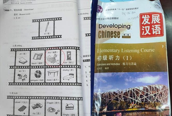 Giáo trình tiếng Trung của Đại học Kinh doanh và Công Nghệ in hình lưỡi bò