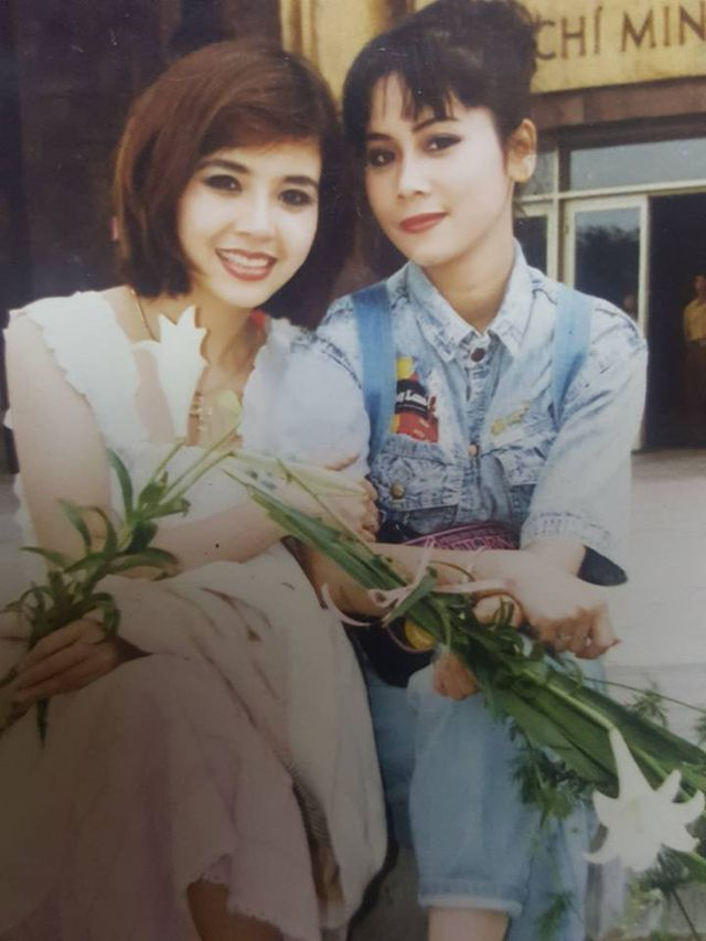 NSND Lan Hương và NSND Minh Hằng khi còn trẻ.